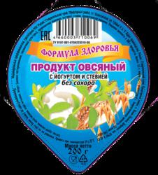 Продукт овсяный с йогуртом и стевией