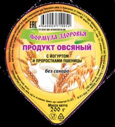 Продукт овсяный с йогуртом и проростками пшеницы